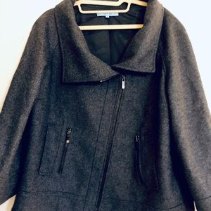 Antonio Melani Black / Heathered Grey Bell coat